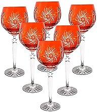 CRISTALICA Weinglas Weinkelch Römer Glas orange