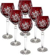 CRISTALICA Weinglas Weinkelch Römer Glas rot