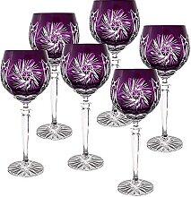 CRISTALICA Weinglas Weinkelch Römer Glas violett