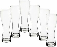 CRISTALICA Weizenbierglas 6er-Set Bierglas Humpen