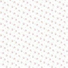 CRISTIANA MASI–Tapete aus Papier mit foriellini Pink Pastell auf Boden Weiß aus Vinyl Blooming Garden 4108