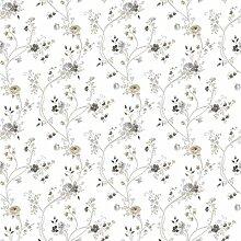 CRISTIANA MASI–Tapete Blumen Country 2529aus Papier mit floralem Muster in gedeckten Farben und romantische