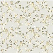 CRISTIANA MASI–Tapete Blumen Country 2531Blumen Farbe gelb für Umgebungen Shabby, Country und provinzieller
