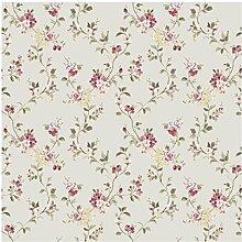 CRISTIANA MASI–Tapete Blumen Country 2534Tapete mit Blumen in leuchtenden Farben und lebendige für Küchen und Kammern Country