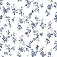 CRISTIANA MASI–Tapete Blumen Country 2542mit Position Provence von blauen Rosen auf Boden Weiß, Sof