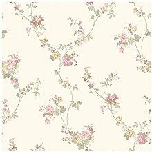 CRISTIANA MASI–Tapete Blumenmuster mit Rosen Kletterpflanzen und Wildblumen Shabby, Country und Provence. Blooming Garden 4117