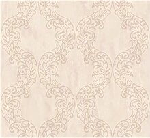 CRISTIANA MASI–Tapete-Farbe pink mit Boden Sandstrahloptik und Position aufliegenden sich in Höhe mit Verzierung dünnes Damast und Glitzer Gold. Qualität Vinyl waschbar Relief, Theodora 7044