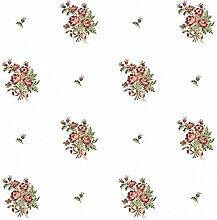 CRISTIANA MASI–Tapete Landhausstil mit Sträußen von Blumen Blooming Garden 4125in Vinyl waschbar