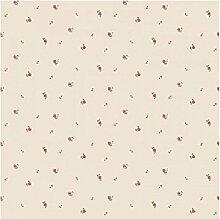 CRISTIANA MASI–Tapete mit Blumen-Bereich rot bordeaux auf Boden beige Blooming Garden 4113