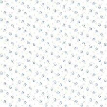 CRISTIANA MASI–Tapete Rollen voreingelegtes mit Position von Blumen blauen auf Boden Weiß Blooming Garden 4106