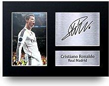 Cristiano Ronaldo Signed A4bedruckt Autogramm, real madrid Foto Display–tolle Geschenkidee