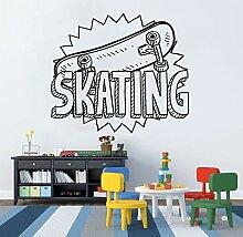 Crjzty Applique Skateboard Vinyl Aufkleber Skating
