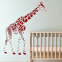 Crjzty Bad wandkunst Aufkleber Giraffe Muster