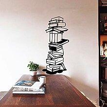 Crjzty Bücher Wandaufkleber Wandtattoos Aufkleber