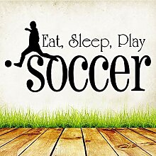 Crjzty Fußball fußballspieler wandaufkleber