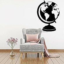 Crjzty Globus Karte Aufkleber Vinyl Wandaufkleber