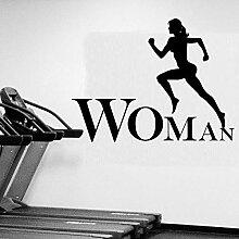 Crjzty Laufen Frauen Dekorative Aufkleber