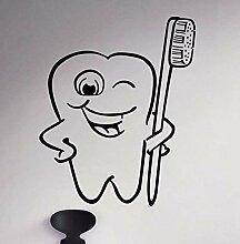 Crjzty Porträt Wandaufkleber Zahnpflege