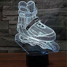 Crjzty Roller Skates Led 3D Nachtlicht Schuhe