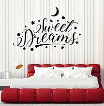 Crjzty Süße Träume Schriftzug Sterne Halbmond