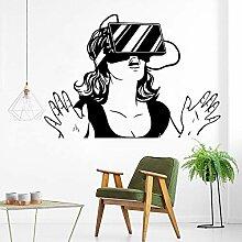 Crjzty Virtual Reality Wandkunst Aufkleber
