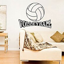 Crjzty Volleyball Vinyl Wandtattoo Aufkleber für