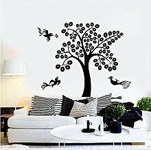 Crjzty Wand Vinyl Aufkleber Baum Vögel Mit Zweig