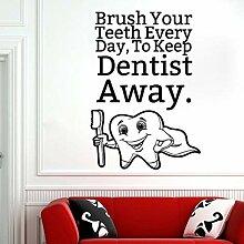 Crjzty Yang Zahnpflege Zitat Wandtattoo