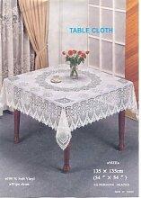 Crochet Tischdecke, quadratisch, 137 cm