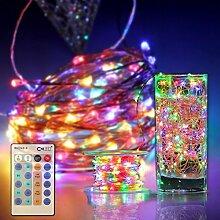 CroLED LED Lichterkette 30M Kupferdraht wasserdicht IP65 Lichterketten dimmbar 300LED strips Außen Beleuchtung Dekoration Wohnung bunt DC 12V