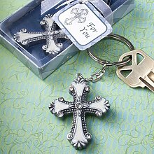 Cross design keychain favors [SET OF 12] by