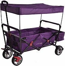 Crotec Kinderwagen mit Sonnendach, lila, 131,4 x