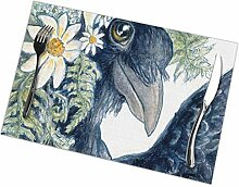 Crow Selfie Table Placemats for Dining