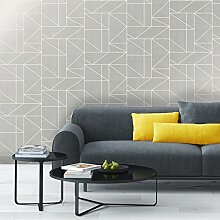 Crown Alexis Geo Tapete, geometrisches Muster,