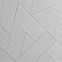 Crown Emporium Duke Geometric Tapete Silber M1464