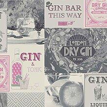 Crown Gin & Fizz Gin O'Clock Tapete