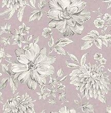 Crown M1548 Lucia Mauve Wallpaper Tapete