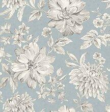Crown M1549 Lucia Blue Wallpaper Tapete