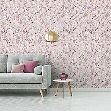 Crown M1553 Mariko Blush/Fuschia Wallpaper Tapete