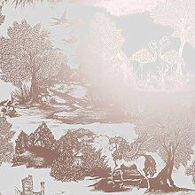 Crown Ophelia Pegasus Tapete Rose Gold M1430