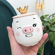 Crown Schwein Kreative Keramik-Tasse, Kaffeetasse