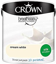 Crown Silk Emulsion Wandfarbe,–Cream Weiß