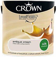 Crown Silk Wandfarbe 2,5 L Emulsion Antik Creme