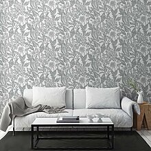 Crown Wallcoverings Alexis Floral Silver M1379