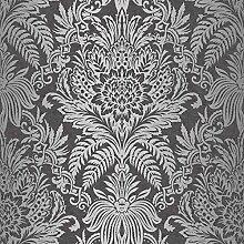 Crown Wallcoverings Signature Tapete, ebenholz,