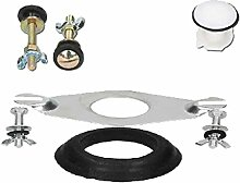 Croydex ff050100Universal Flush Ventil Montagekit, weiß/schwarz/silber