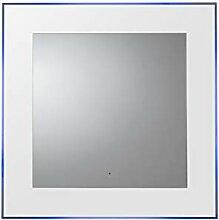 Croydex Oakley beleuchteter Spiegel, Metall, weiß