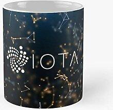 Cryptocurrency Iota Best 11 Ounce Ceramic Coffee
