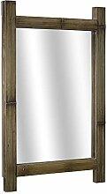 Crystal Art Wandspiegel, rustikal, Bambus, 41 x 66