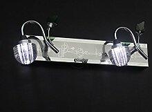 Crystal LED Spiegel vorne Lampe wasserdicht Nebel Bad Lampe Bad Lampe Make-up Lampe Spiegel Malerei Lampe 2 Kopf 3 Kopf, 3 Kopf